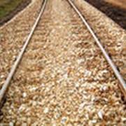 Строительство железнодорожных путей фото