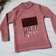 Детский вязаный свитер с декором в расцветках. Турция. МО-1-1118 фото