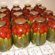 Ассорти из огурцов и помидоров. ИП Сатаев. Казахстан фото