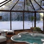 Изготовление стеклянных зимних садов из профиля алюминия фото