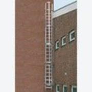 Аварийная лестница одномаршевая из алюминия анодированного 10.78м KRAUSE 813442 фото