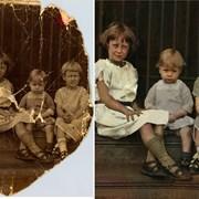 Реставрация поврежденных фотографии фото