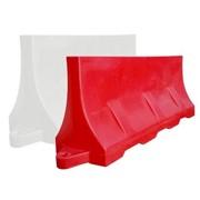 Разделительный дорожный блок водоналивной красный, белый 1,2м фото