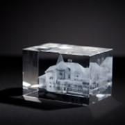 3D модель зданий в стекле фото