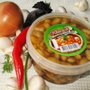 Фасоль с шампиньонами в томатно-пряном соусе, фасованная, Украина, купить, цена. Товар от производителя оптом.