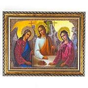 Икона Святая Троица рамка багет 15х20 см фото