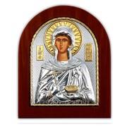 Икона Параскевы Пятницы Серебряная с Позолотом Silver Axion Греция 156 х 190 мм фото