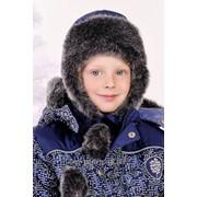 """Детская зимняя шапка для мальчика """"Схемы"""" фото"""