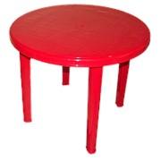 """Стол """"Romantik"""" круглый красный Т209 D85,5см h71,5см фото"""