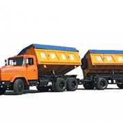 Самосвальный автопоезд КрАЗ-6424C4+КрАЗ-A201C2 фото
