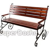 Садовая скамейка Элит фото