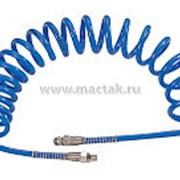 """Шланг пневматический спиральный высокого давления 8х12 мм, 15 м, М1/4"""", полиуретановый MIGHTY SEVEN SD-23115 фото"""