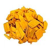 Декоративная щепа 60л желтая фото
