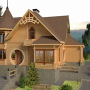 Дом из бруса натуральный фото