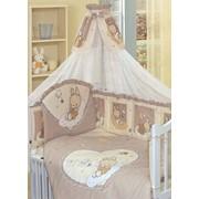 Комплект в кроватку для новорожденных Степашка, 7 предметов, Золотой Гусь фото