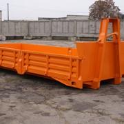 Контейнер металлический роликовый (откатной) открытого типа для сбора строительных, крупногабаритных отходов и других материалов КВВ10-00.00.00 фото