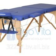Складной массажный стол деревянный ErgoVita CLASSIC (2-х секционный, синий) фото