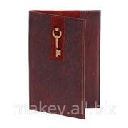 Обложка для паспорта Золотой ключик, 009-08-13 фото
