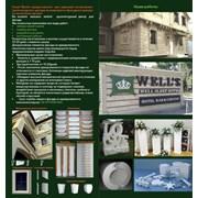 элементы декора фасада зданий из пенопласта.  фото