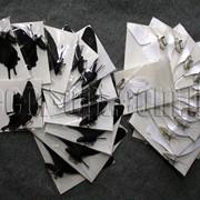 Бабочки бумажные на булавке 6-12 см 12 шт 7441 фото