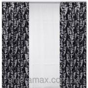 Шторная ткань blackout черно-серая 37(4dr) фото