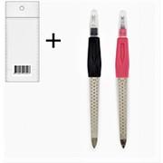 Пилка 536299 NFM 014 Merilin с перфорацией + триммер для ногтей 15 см ( цена за 1 шт ) фото