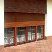 Окна алюминиевые под фактуру дерева фото