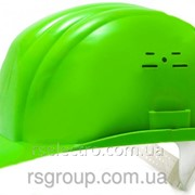 Каска строительная (цвет зелёный) фото
