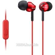 Наушники проводные Sony EarPhones MDR-EX110APR Red with Mic фото