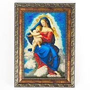 Икона Дева Мария рамка багет 10х15 см фото