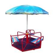 Карусель детская с зонтом, 6-местная. фото
