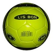 Мяч футбольный желтый 32 панели D22см 404AB фото
