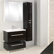 Комплект мебели для ванной Мадрид 80 М черный глянец фото