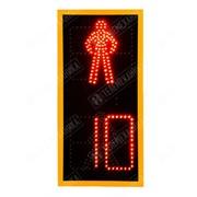 Светофор светодиодный пешеходный плоский с нанокозырьками ПП2.1 - М (D200мм) фото