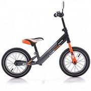 Беговел Azimut Balance Bike Air 12 Графит-оранжевый фото