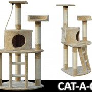 Когтеточка домик игровой комплекс для кота дряпка A-05 фото
