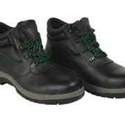 Ботинки кожанные, подошва изготовлена из двойного полиуретана, абсорбация ударов под пяткой, стальной подносок. фото