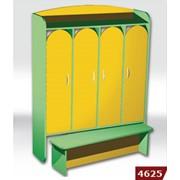 Шкаф 4-дверный для раздевалки со скамейкой 4625 фото
