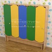 Шкаф секционный для детской раздевалки (5 секции) с лавкой фото