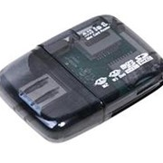Считыватель карт памяти картридер usb 2.0 Spire SP-336 TF-microSD, SD-MMC, M2 - темный, прозрачный фото
