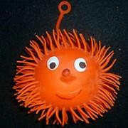 Светящаяся резиновая игрушка Ёжик 12см фото