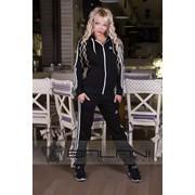Женские спортивные костюмы Спорт костюм Adidas (709/АР)/ Черный фото