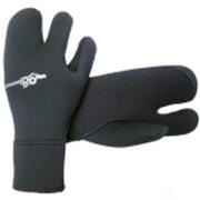 Перчатки для дайвинга трехпалые AQUADISCOVERY Duratex 7mm фото
