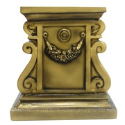 Изделие декоративное Тумба (цвет бронза), размер 36,5*36,5*39cm фото