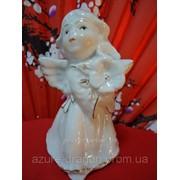 Статуэтка из белого фарфора Ангел, Девочка фото