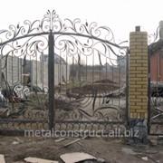 Ажурные кованые ворота №19 фото
