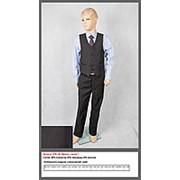 Костюм для мальчика Брюки+жилетка, размер 34 (рост 140-146) фото