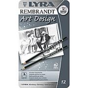 Lyra Набор премиальных графитных карандашей REMBRANT ART DESIGN в металлической коробке Комплектация 12 штук фото
