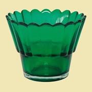 Лампада рифленая (зеленая). Арт.Ст.890 фото
