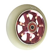 Колесо для ТРЮКОВОГО самоката, с подшипниками ABEC9 110мм SUB розово-белое фото